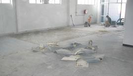 remove floor coverings - floor preparation