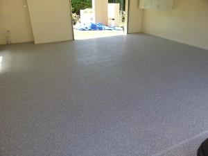 6mm Grey E-Flake on Garage Floor - Auckland